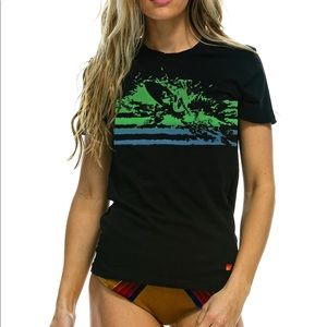Aviator Nation Black Surf Boyfriend Tee M